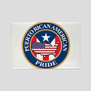 Puerto Rican American Pride Rectangle Magnet