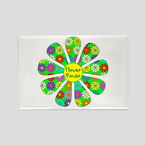 Cool Flower Power Rectangle Magnet
