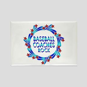 Baseball Coaches Rock Rectangle Magnet