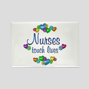 Nurses Touch Lives Rectangle Magnet