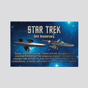 50TH FINAL FRONTIER Rectangle Magnet
