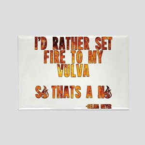 VEEP: Fire Vulva Rectangle Magnet