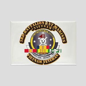 SSI - 3rd Bn - 1st Marines w VN SVC Ribbon Rectang