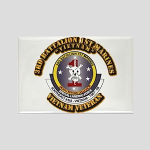 SSI - 3rd Battalion - 1st Marines USMC VN Rectangl