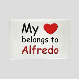 My heart belongs to alfredo Rectangle Magnet