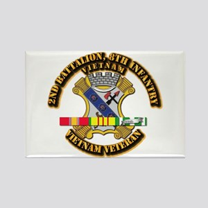 2nd Battalion, 8th Infantry Rectangle Magnet