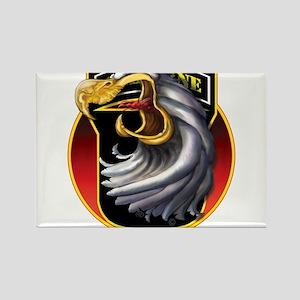 Screamin' Eagles Badge Rectangle Magnet