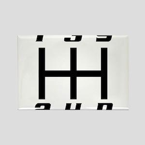 5-speed logo Rectangle Magnet