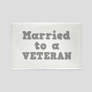 Married to a Veteran Rectangle Magnet