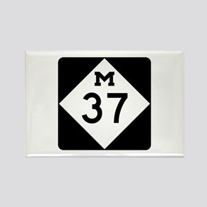 M-37, Michigan Rectangle Magnet