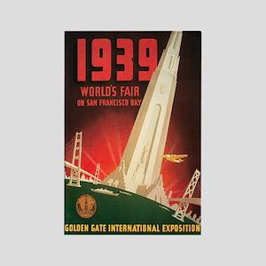 San Francisco World's Fair Rectangle Magnet