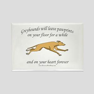 Greyhound Pawprints Rectangle Magnet