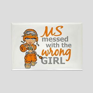 Combat Girl MS Rectangle Magnet