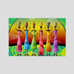 African American Women Rectangle Magnet