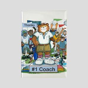 Male Coach High School - Rectangle Magnet