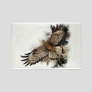 Falcon Flight Rectangle Magnet