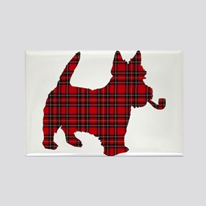 Scottish Terrier Tartan Rectangle Magnet