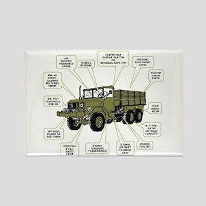 M35A2 Cargo Truck Rectangle Magnet