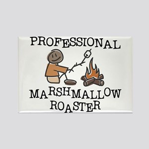 Professional Marshmallow Roaster Rectangle Magnet
