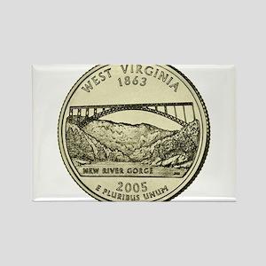 West Virginia Quarter 2005 Basic Magnets