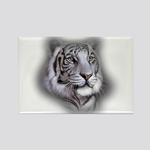 White Tiger Face Magnets