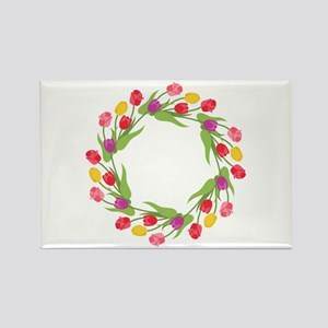 Tulips Wreath Magnets