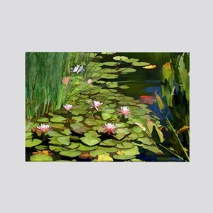 Koi Pond and Water Lilies copy Rectangle Magnet