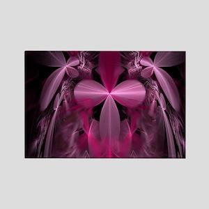 Pink Fractal Dragonflies Magnets