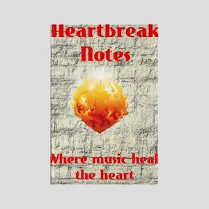Hearbreak Notes A5 Design white t Rectangle Magnet