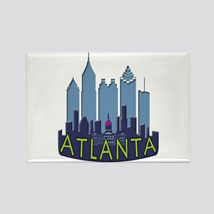 Atlanta Skyline Newwave Cool Rectangle Magnet