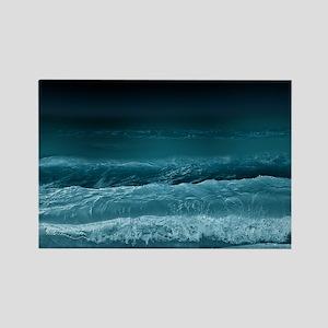 Night  Ocean Waves Rectangle Magnet