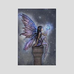 Little Blue Moon Fairy Fantasy Art Magnets
