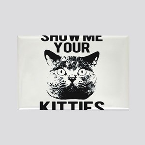 SHOW ME YOUR KITTIES FUNNY CAT HEAD TEE Rectangle