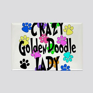 Crazy Goldenddoodle Lady Rectangle Magnet