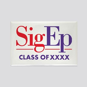 SigEp Class of XXXX Personalized Rectangle Magnet