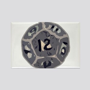 12 Sided Die Rectangle Magnet
