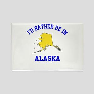 I'd Rather Be in Alaska Rectangle Magnet