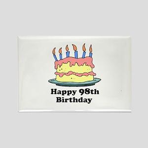 Happy 98th Birthday Rectangle Magnet