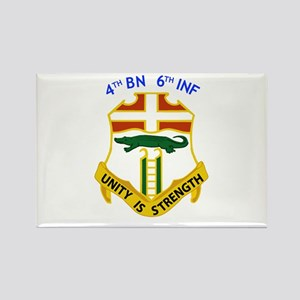 4th BN 6th INF Rectangle Magnet