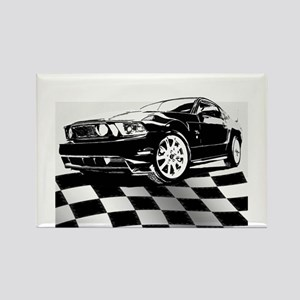 2011 Mustang Flag Rectangle Magnet