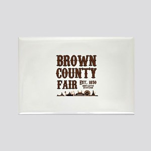 Brown County Fair Rectangle Magnet
