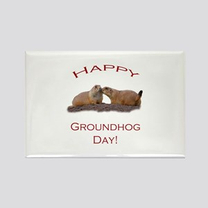 Groundhog Day Kiss Rectangle Magnet