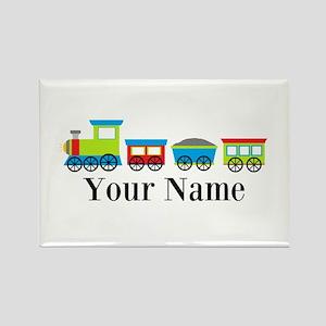 Personalizable Train Cartoon Rectangle Magnet