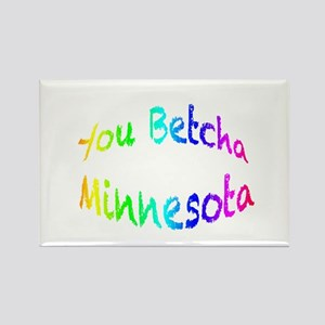 you betcha minnesota r Rectangle Magnet