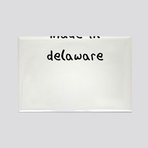 made in delaware Rectangle Magnet