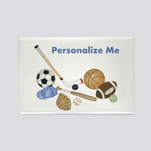 Personalized Sports Rectangle Magnet