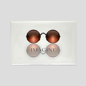 round glasses blk Magnets
