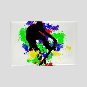 Graffiti Paint Splotches Skateboarder Magnets