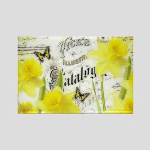 Vintage daffodils Magnets