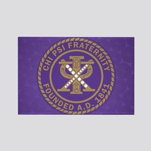 Chi Psi Shield Rectangle Magnet